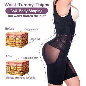 Image 4 - Frauen Abnehmen Full Body Shaper Korrigierende Unterwäsche Shapewear Bauch steuer Höschen Unterbrust Taille Korsetts Bodysuit Hüftgürtel