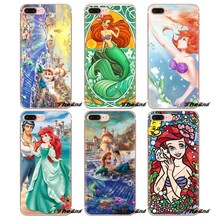 Stained Glass Ariel Little Mermaid For Sony Xperia Z Z1 Z2 Z3 Z5 compact M2 M4 M5 E3 T3 XA Aqua LG G4 G5 G3 G2 Mini Phone Covers(China)