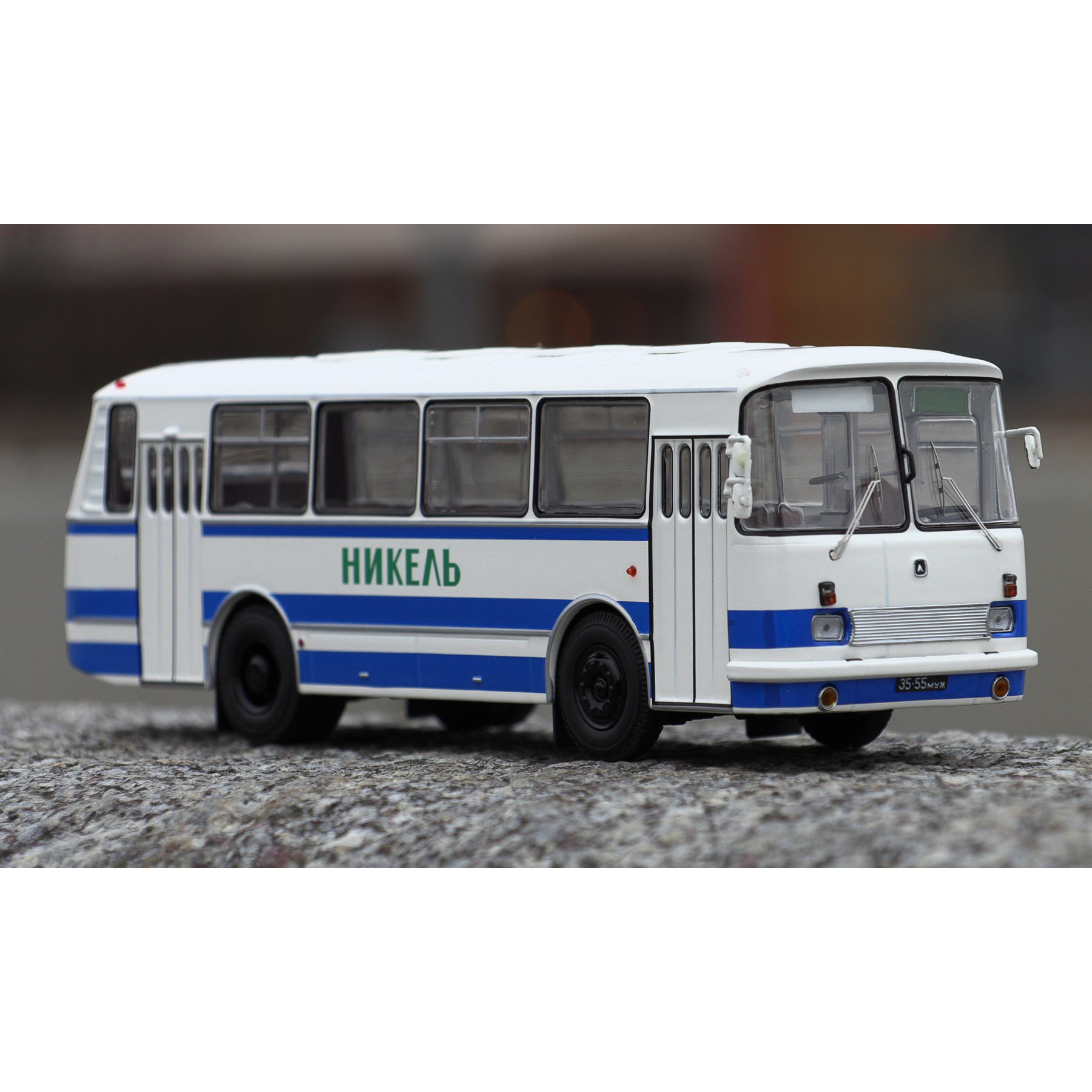 Scale Model 699R White Yellow 1:43 Classicbus Bus Toy Retro Soviet