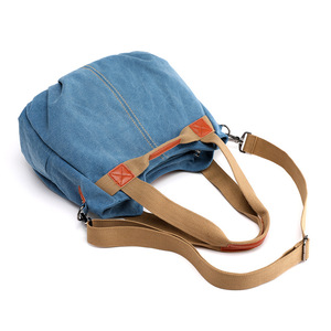 Новинка 2020, горячая Распродажа, Женская Повседневная винтажная сумка-хобо, повседневная сумка из парусины с верхней ручкой, сумка-тоут через плечо, сумка для покупок, синий/черный