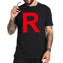 T-shirt à manches courtes de l'équipe GO Rocket, 100% coton, taille européenne