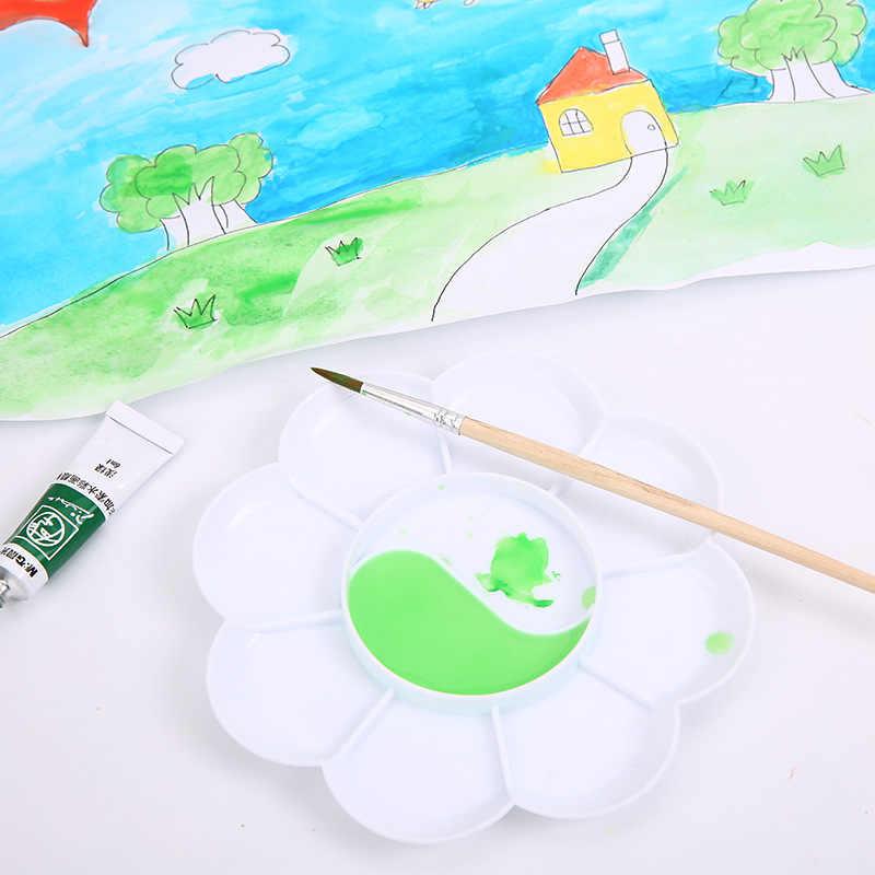 5 個 10-よく花の形ペイントパレット塗装用品アート塗料トレイアーティスト水彩パレット顔料トレイプラスチックパレット