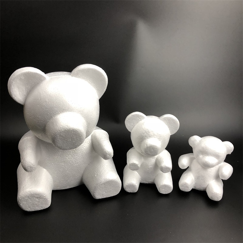 1pcs shaped styrofoam foam bear for DIY Christmas party decoration gifts title=