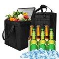 Сверхбольшая портативная охлаждающая сумка 24/31L, изолированный термоохладитель для еды, напитков, сумки для пикника, инструменты для кемпин...