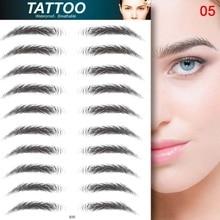Makeup-Tool Eyebrow-Sticker Tattoo Water-Transfer Semi-Permanent 3D Embroidery Bionic