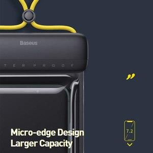 Image 4 - Baseus 7,2 дюйма Водонепроницаемый чехол для телефона сумка для купания Универсальный мобильный телефон чехол для телефона чехол для дрифта для подводного плавания серфинга