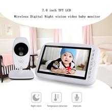Neng sans fil vidéo bébé moniteur Vision nocturne caméra vidéo 7 pouces LCD capteur de température 2 voies Audio parler moniteur nounou