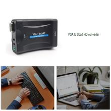 HDMI Converter Video Audio Converter Adaptor HD TV DVD Universal VGA untuk SCART VGA Ke SCART HD Converter 1080P(China)