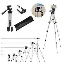 Tripod profesyonel taşınabilir seyahat alüminyum kamera tripodu ve Pan kafa SLR DSLR dijital kamera tripodlar telefon