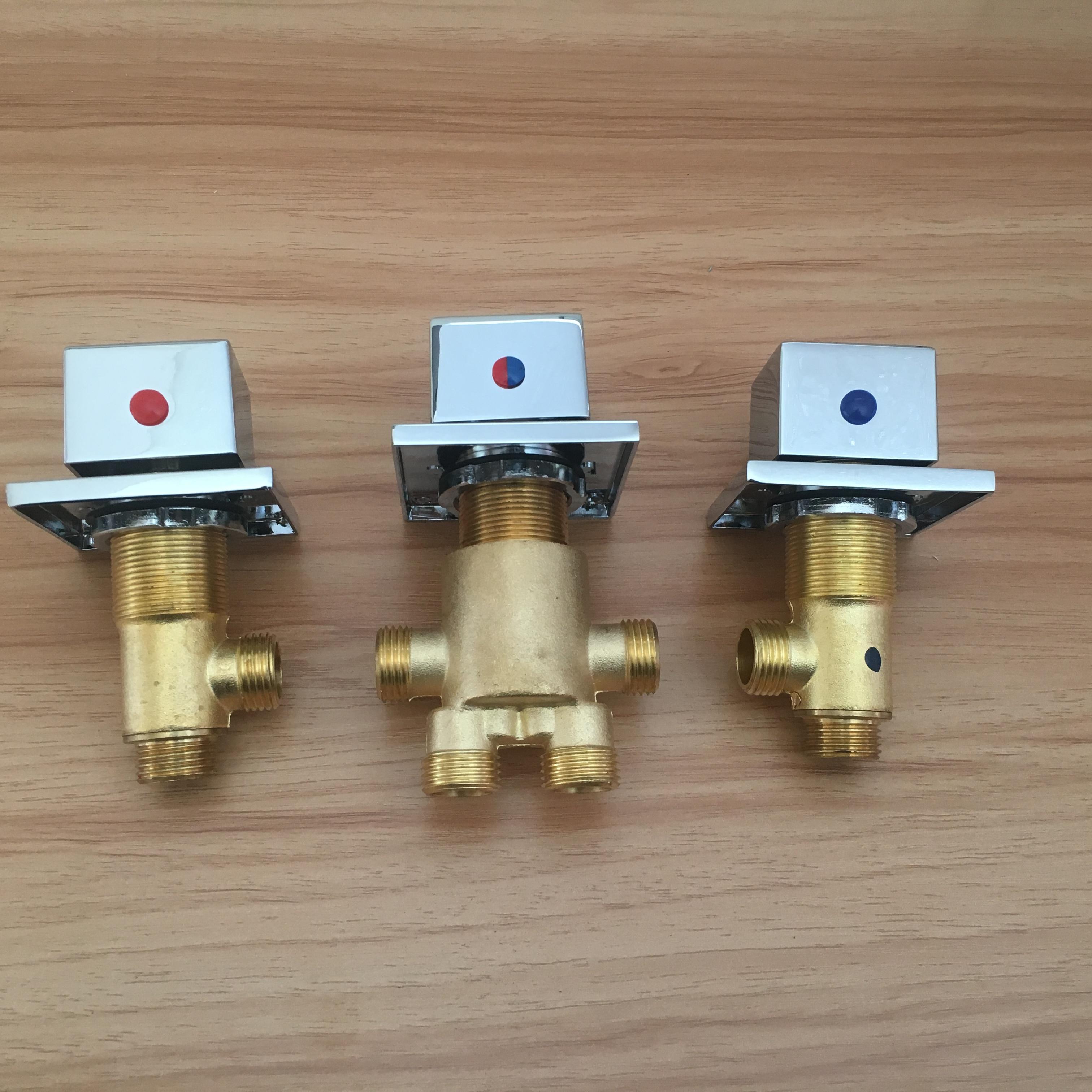 MTTUZK Square Handle Brass Switch Valve for Jacuzzi faucet shower mixer Bath faucet control valve Split Bathtub faucets