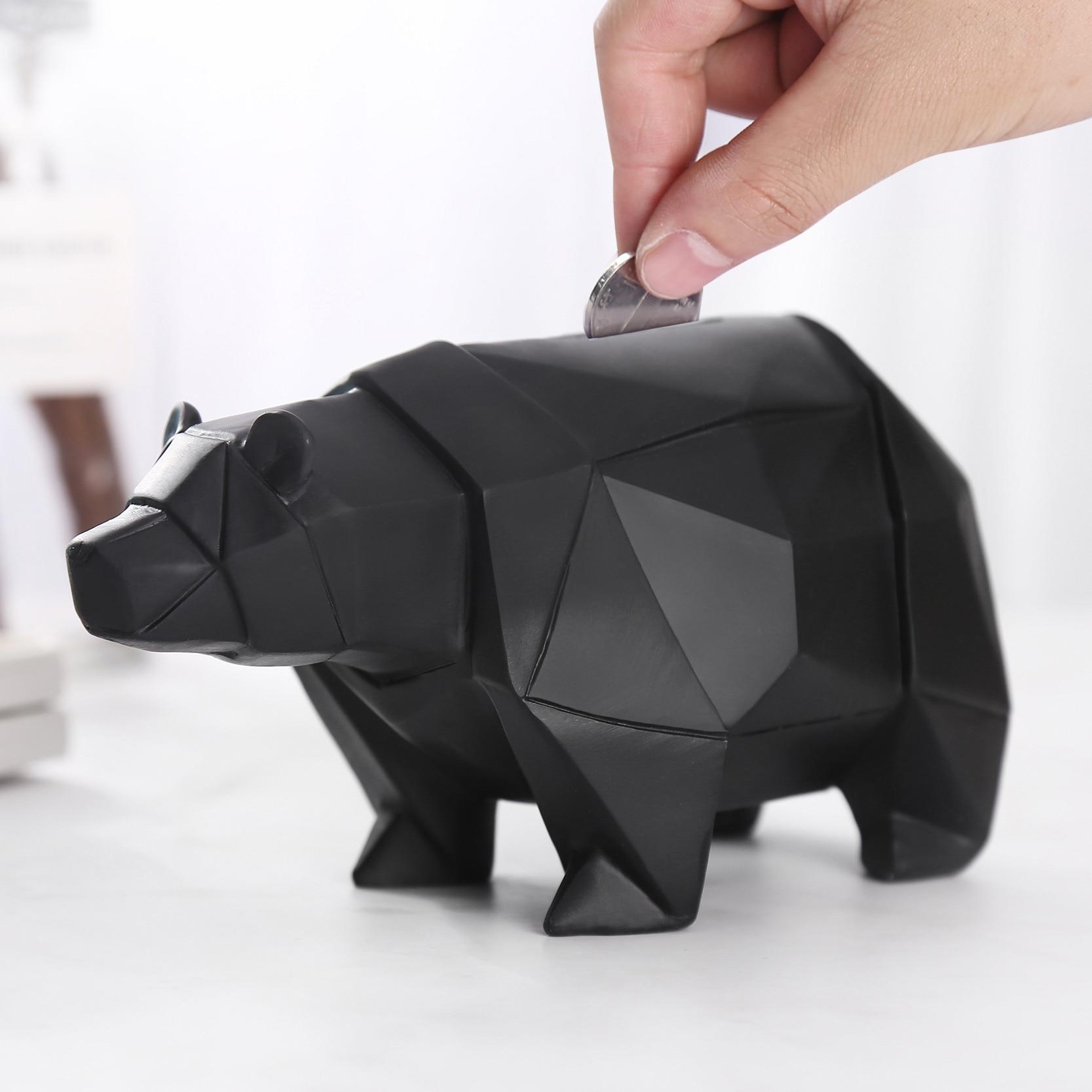 Cute Polar Bear Piggy Bank for Money box Child Boy Gift on Christmas Birthday Coin Holder Decorativer Coin Storage Bear Figurine