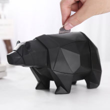 Cute Polar Bear Piggy Bank for Money box Child Boy Gift on Christmas Birthday Coin Holder Decorativer Coin Storage Bear Figurine