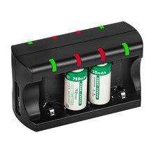 Универсальное 8 Bay зарядное устройство для CR123A Rea зарядное устройство с кабелем type-C зарядное устройство
