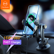 Mcdodo 15W Car Phone Holder Qi Wireless Charger Automatic Gravity Air Vent Clip Stand For iPhone 11 X Huawei xiaomi Samsung S10