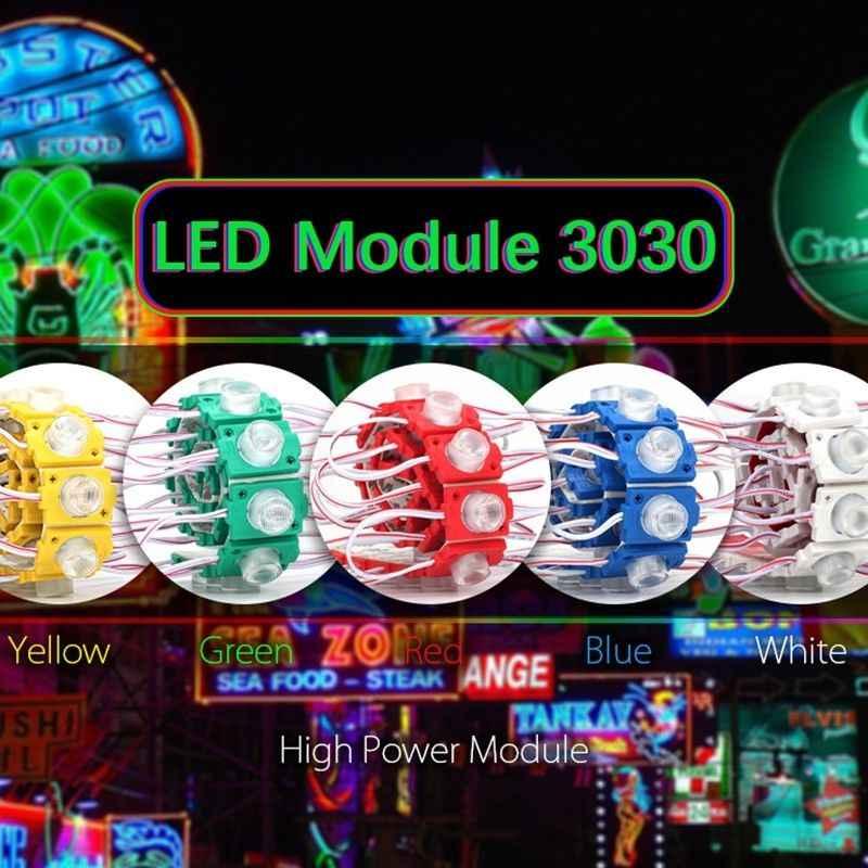 1000 шт. светодиодный рекламный светильник 3030SMD 2 Вт водонепроницаемый супер яркий светодиодный светильник s наружный белый светодиодный светильник