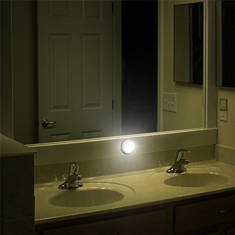 3 шт., 6 светодиодных ночников, инфракрасный датчик движения PIR, магнитный свет для коридора, шкафа, лестницы, ванной комнаты, спальни, кухни, 6 светодиодных ламп