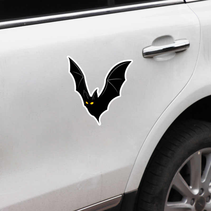Aliauto Stiker Mobil Pribadi Kelelawar Hitam Aksesoris Vinil Stiker Penutup Goresan untuk Passat B5 Porsche Mazda 6 Audi, 15 Cm * 14 Cm