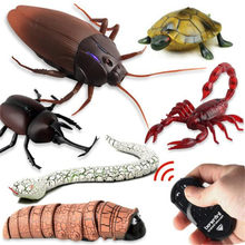 Robotic Insect Prank Toys Trick Electronic Pet RC Simulation Scorpion Beetle Remote Control Smart Animal Model Child Adult Gift