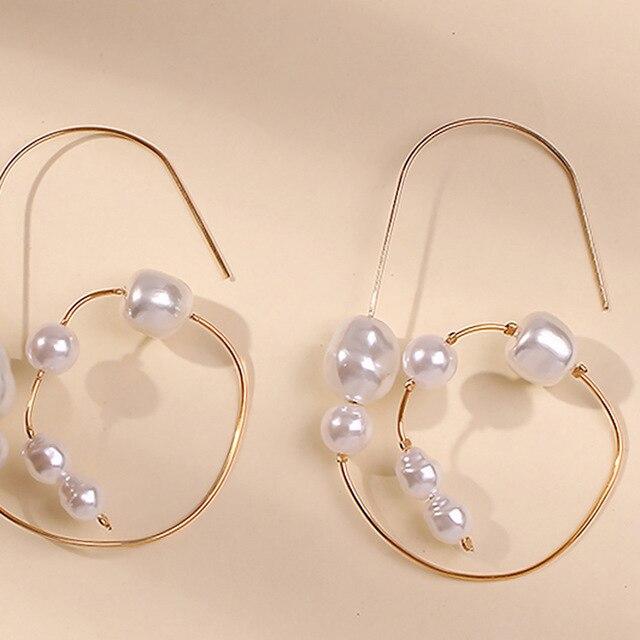 Baroque Irregular Pearl Earrings 6