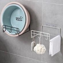 Shelf-Holder Cover-Rack Hook-Organizer Washbasin-Stand Wall-Mounted Space-Saving Pot