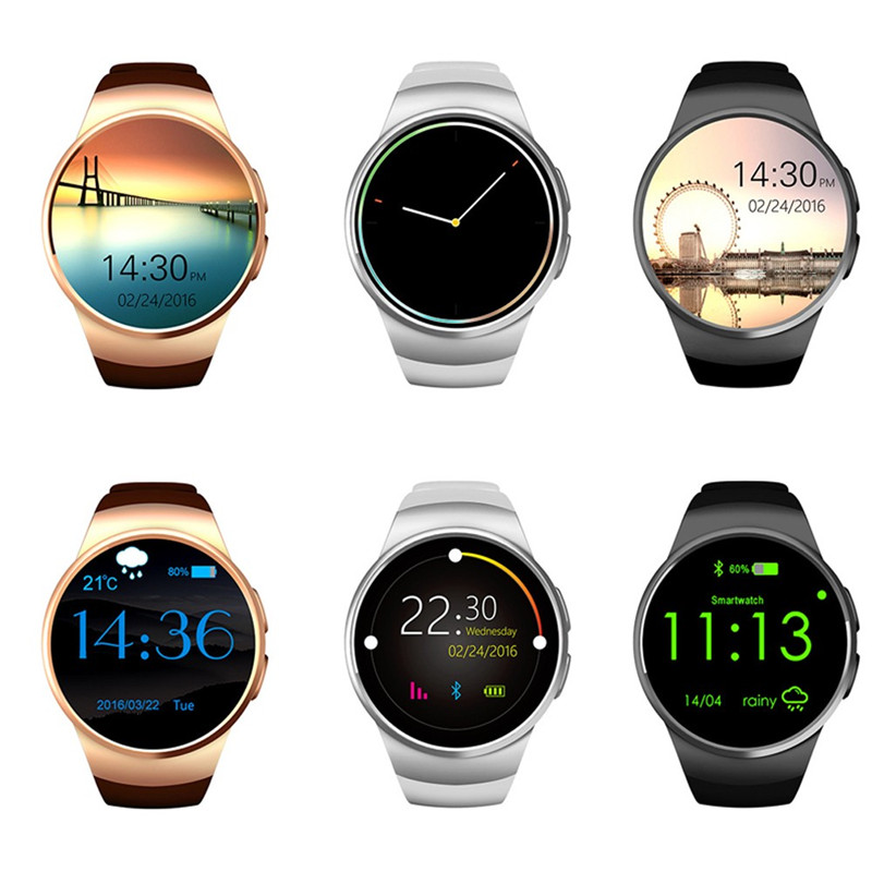 LYKRY KW18 Bluetooth montre intelligente plein écran prise en charge SIM TF carte Smartwatch téléphone moniteur de fréquence cardiaque podomètre pour Android IOS