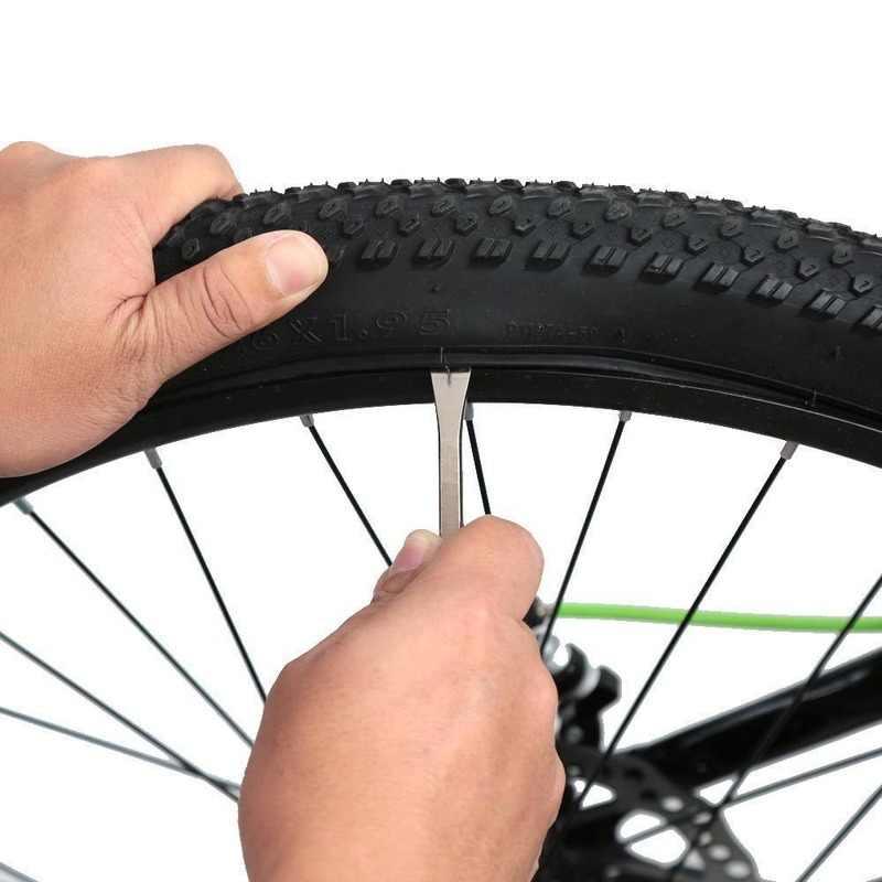 1 Pcs 12 Cm Logam Sepeda Sepeda Bersepeda Ban Tuas Sepeda Roda Remover Perbaikan Ban Alat Kit Set Sepeda perbaikan Sepeda Linggis
