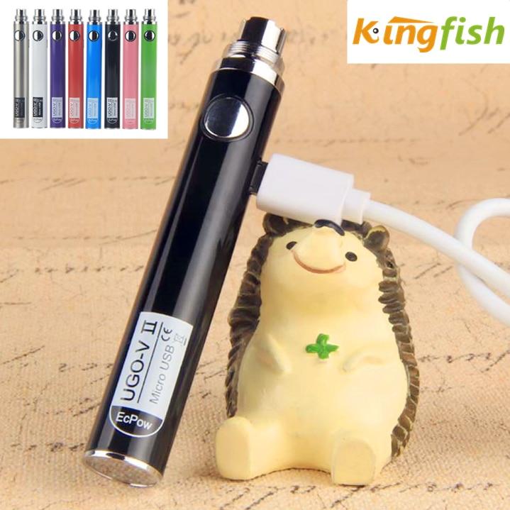 1Pcs Authentic UGO V2 II 510 Thread Vape Battery EVOD EGo Micro USB Passthrough 650mAh 900mAh Vaporizer Fit MT3 CE4 H2 Atomizer