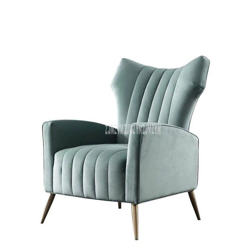 Nordique simple paresseux canapé chaise balcon loisirs chambre salon chaise mélèze solide bois cadre confortable simple canapé chaise