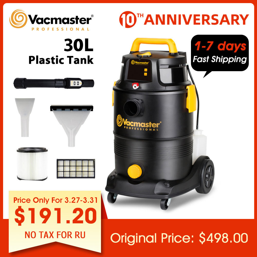 Vacmaster 1300W Hotel Vacuum Cleaner 30L Multifunction Cleaners For Floor 4 In 1 Remote Control Shampoo Carpet Vacuum Cleaner