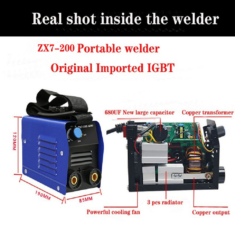 Mini Inverter Household, Portable Electric Welding Machine, A Full Set Of Configuration Of ARC-200 Export