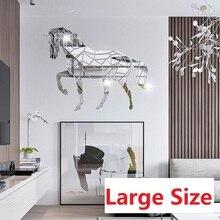 Stickers Bedroom Horse-Mirror Furniture Tv-Background-Walls Windows-Door Self-Adhesive