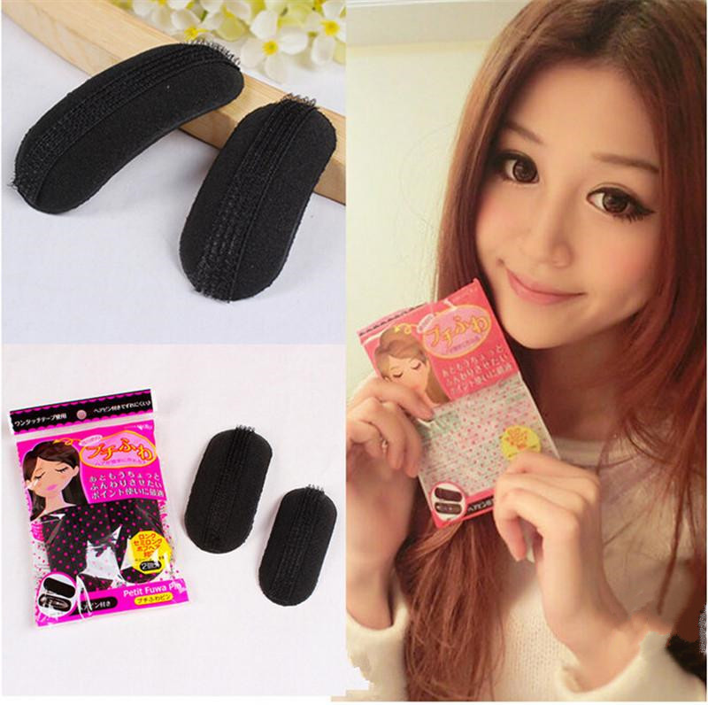 2pcs/set Bump It Up Volume Base Hair Inserts Beehive Design Princess Hair Tool Set Top Quality