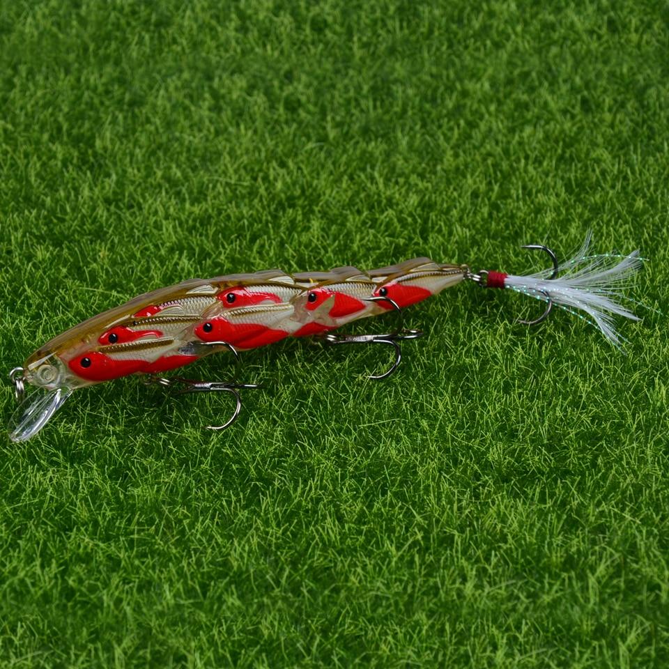 Isca de pesca artificial para pegar peixes, várias iscas artificiais ou duras de 15.6g, minnow, 1 peça