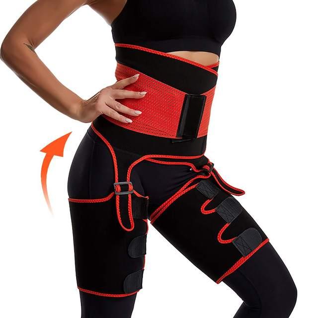 1Pcs Men Women Tummy Waist Trainer Cincher Sweat Belt Trainer Hot Body Shaper Slim Shapewear Sweat Belt Waist Cincher Trainer 3