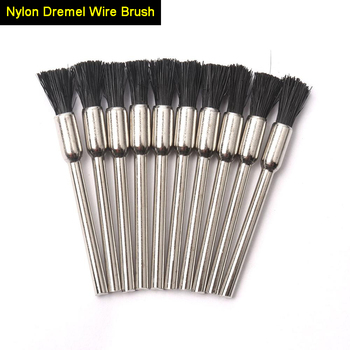 wire bowl type machinery brush cutter durable nylon wire weeding brush wire trimmer head brush tools 10Pcs 3mm Shank Dremel Accessories Nylon Dremel Wire Brush Polishing Brush Buffing Wheel Nylon Brushes for Dremel Rotary Tools