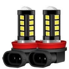 Комплект из 2 предметов, новинка, H8 H11 светодиодный HB4 9006 H9 анти противотуманные фары 66 светодиодный 1200LM 6000K белый вождение автомобиля ходовой огонь автоматические светодиоды лампы 12V