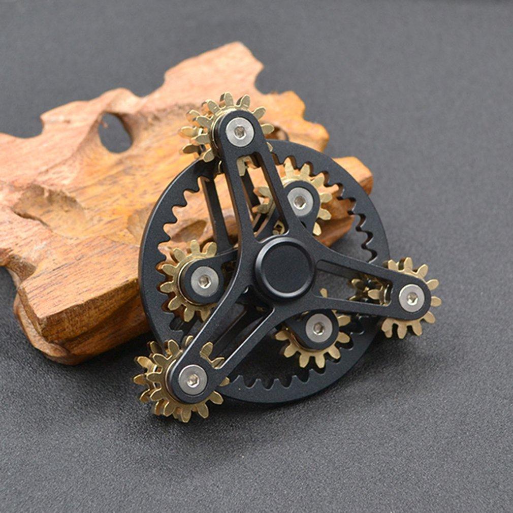 Natal nove dentes enlace/9-vermelho enlace fingertip giroscópio edc mão spinner mão fidget divertido dedo ponta stress relie