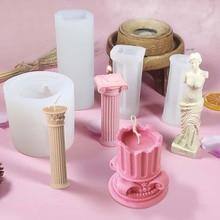 Candle-Mold Roman Column Mould Mold-Making-Supplies Plaster Handmade Diy Home-Decor