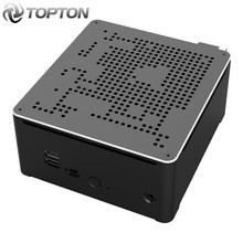 TOPTON Intel Mini PC i9 10880H i9 9880H i7 9850H 2 Lans 2 * DDR4 64GB 2 * M.2 PCIE + SATA komputer do gier Win10 Pro 4K HDMI DP AC WiFi