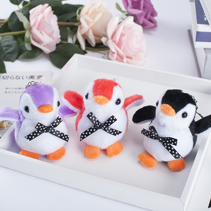Penguin Key Chain Animal Doll Plush Toy Pendant Doll Keychain Plush Boy Girl Soft Pendant Soft As A Gift To Children