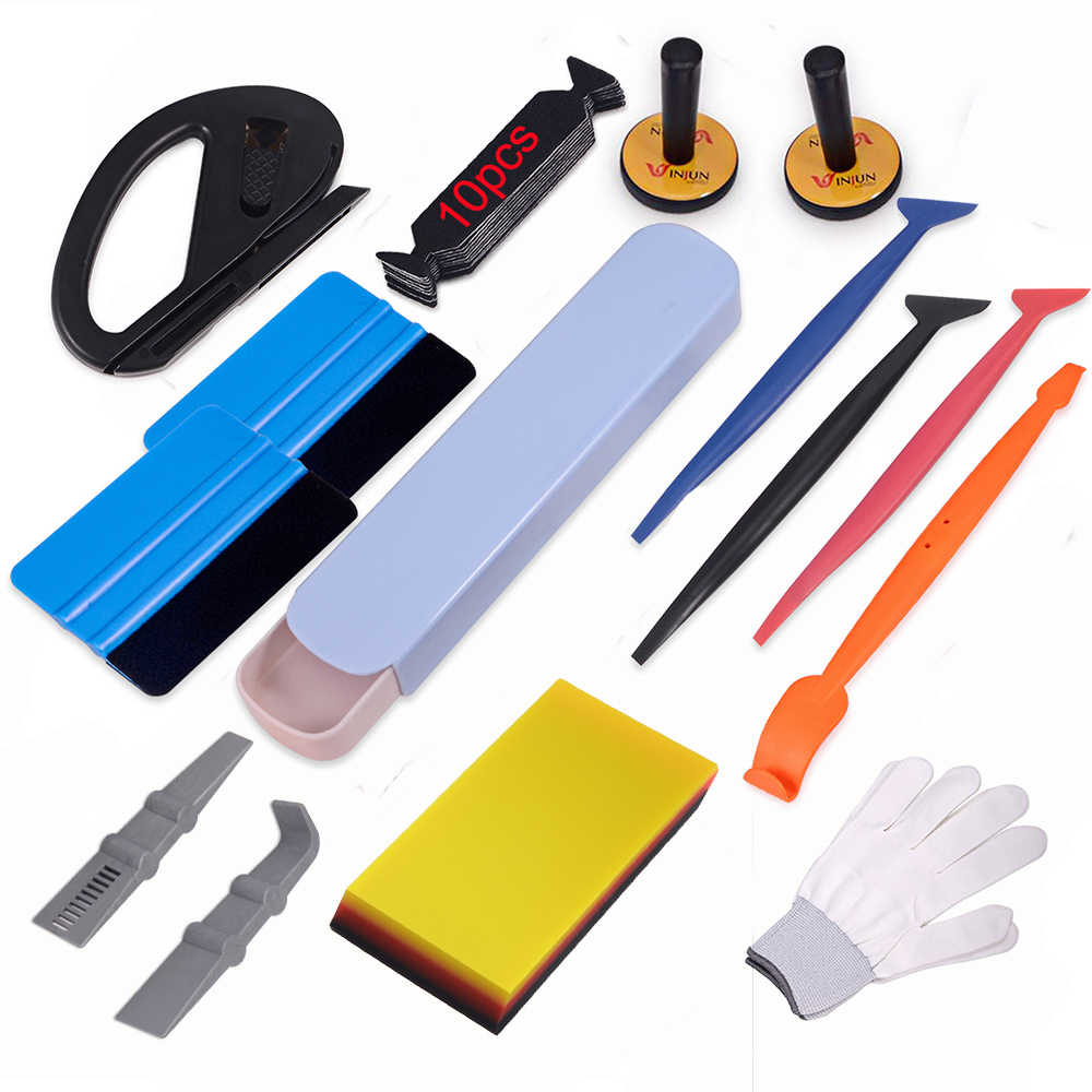 EHDIS Vinyl Wrap Car Tools Set Car Accessories Carbon Fiber Sticker Film Magnetic Holders Auto Window Tint Squeegee Cutter Knife