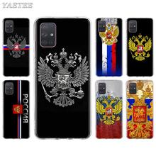 Russia Russian Flags Emblem Phone Case for Samsung Galaxy A51 A71 5G A21 A31 A41 A11 A10s A20e A30 A40 A50 A70 Soft Cover funda(China)