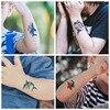 2021 10 kinds Cartoon Shark Tattoo Children Cute Makeup Temporary Body Stickers Blue Fish Disposable tatouage temporaire