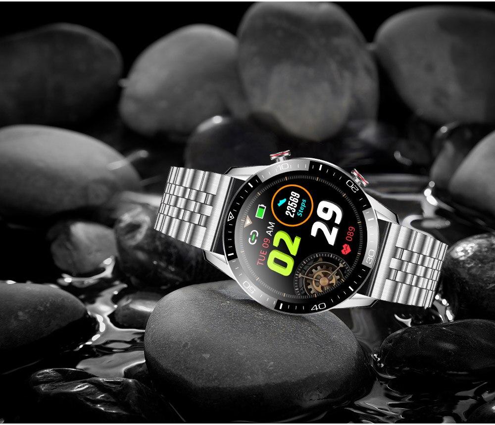 H78f255cfc75d460cbb41aabbb77599eao TK2-8 Smart Watch For Men Bluetooth Call IP68 Waterproof Blood Pressure Heart Rate Monitor New SmartWatch Sports Fitness Tracker