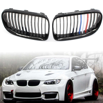 For BMW 3 series E92 E93 2 Door 2006 -2009 Car Front Grille Replacement Kidney Grill front bumper Gloss Black Red White Blue
