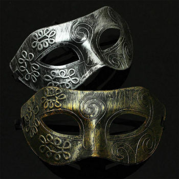 Sexy Mask Gold Or Silver Retro Greek Roman Warrior Mask Womens Mens Masquerade Party Ball Prom Costume Accessories image