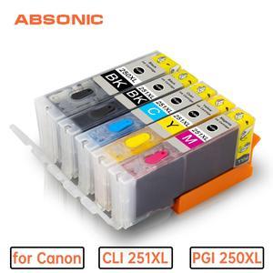 5PK PGI 250 CLI 251 картридж со съедобными чернилами для canon PIXMA MG5420 MG5422 MG5520 MG5522 MG6420 IP7220 MX722 MX922 IX6820 принтер