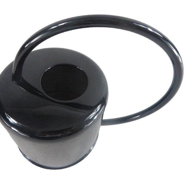 Jardinage européen arrosoir Pot acier inoxydable 1300Ml ménage douche Pot noir petit arrosage fleur