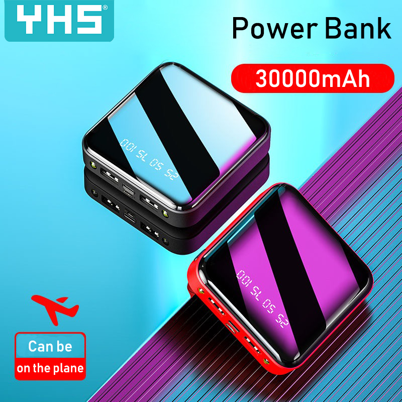 Power-Bank Charger External-Battery 30000mah Xiaomi Portable IPhone X Mini For Dual-Usb-Ports
