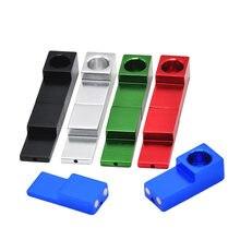 Multicolorido magnético de duas seções destacável 76mm metal de alumínio acessórios de tubulação de fumo de tabaco